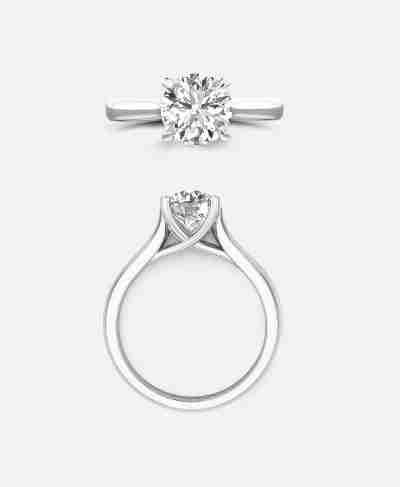 Amelie Setting, Art Nouveau Engagement Ring