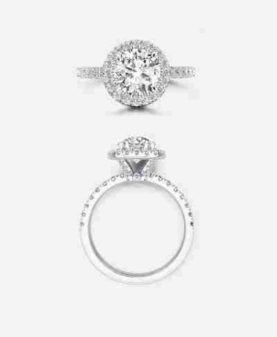 Maiden Setting, Vintage Halo Engagement Ring