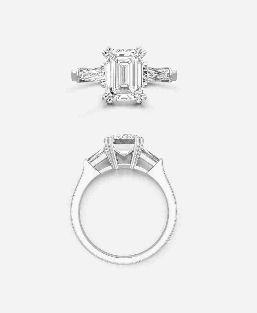 Emerald Cut Diamond Engagement Ring Design